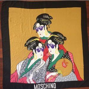 Rare moschino geisha silk scarf